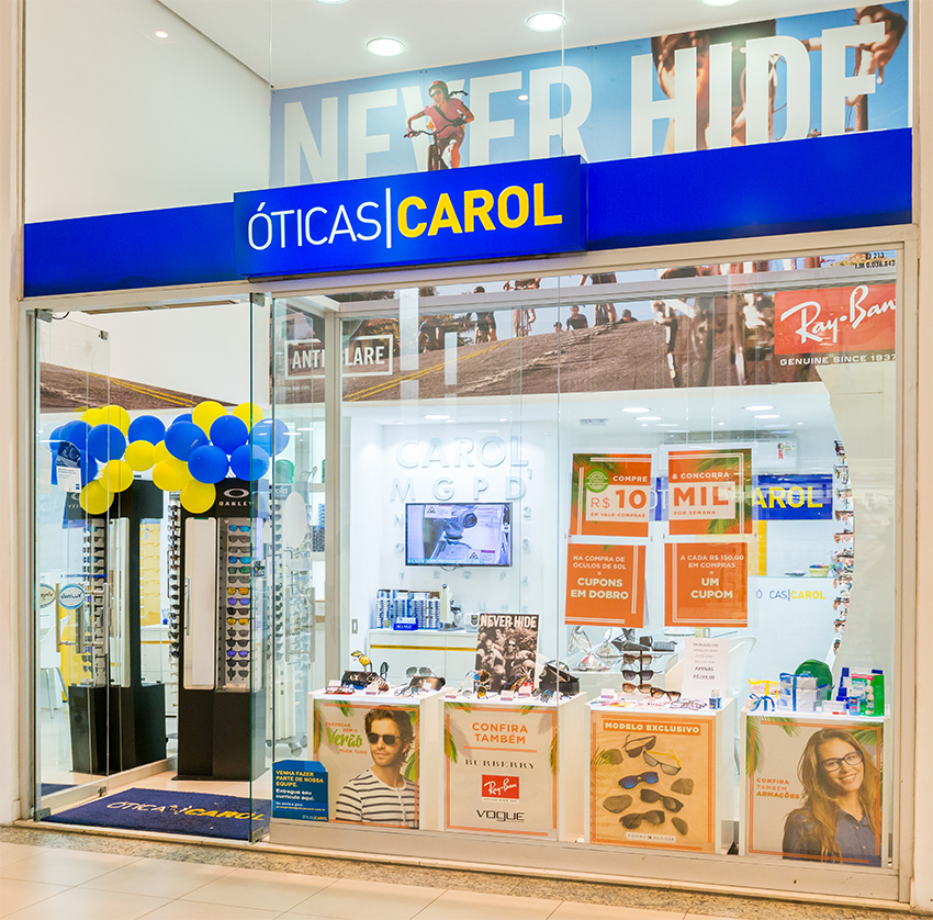 3c1449ac74d09 Óticas Carol Guarujá - Shopping La Plage Guarujá
