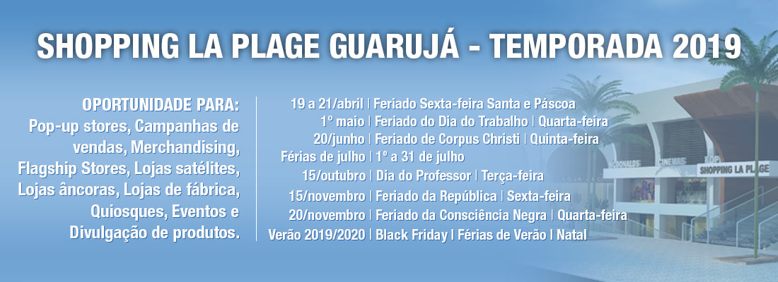 6ec68957255e9 Shopping La Plage Guarujá - Shopping La Plage Guarujá